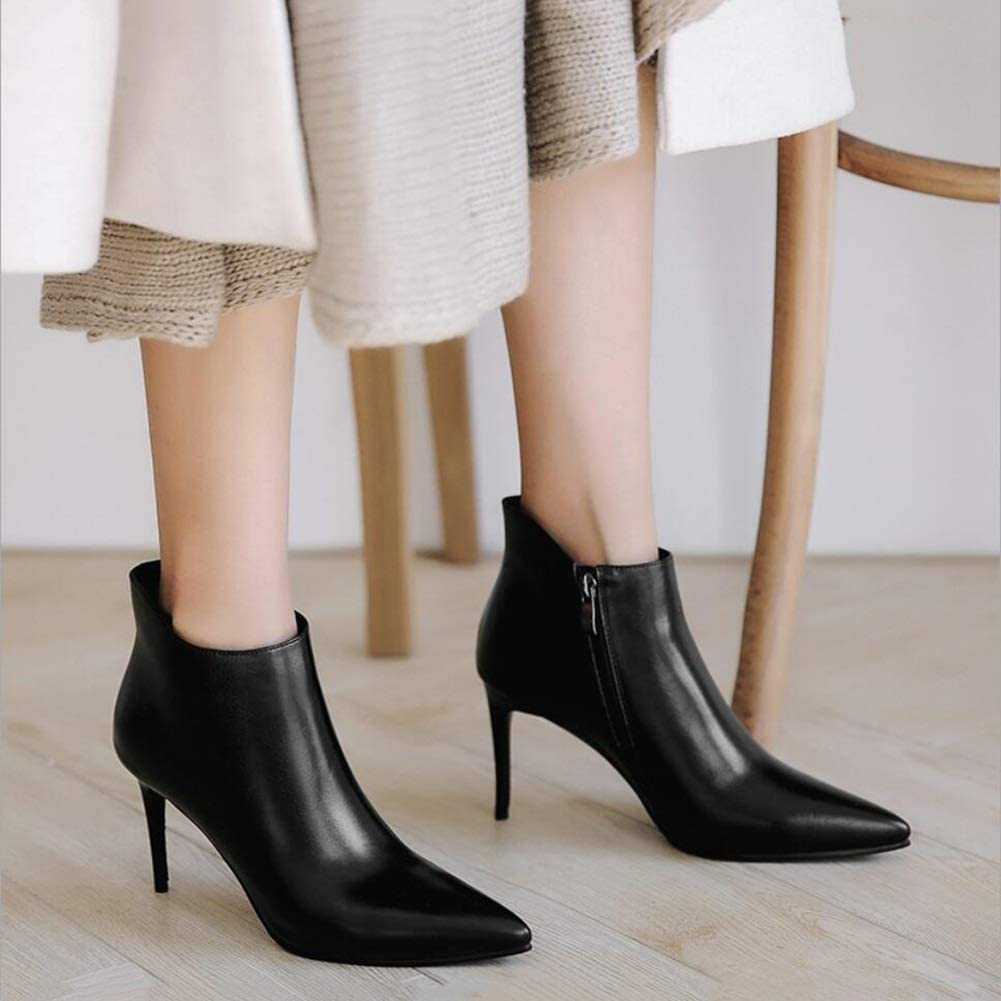 XUE Womens Shoes Leatherette Winter Fashion Boots//Formal Shoes Boots Stiletto Heel Pointed Toe Zipper//Lace-up//Tassel//Ankle Boots//Mid-Calf Boots Color : D-Keep Warm Boots, Size : 37