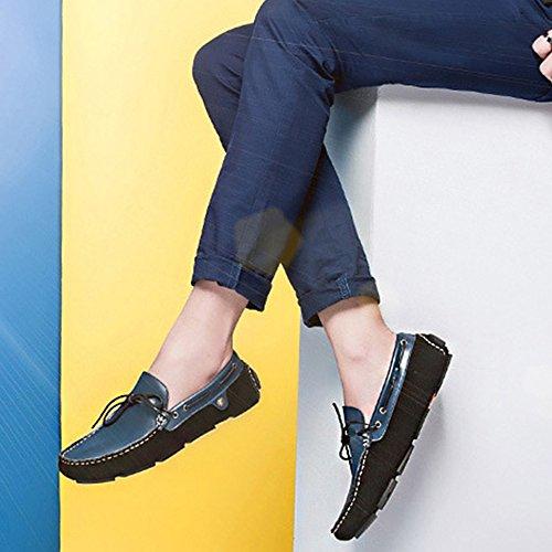 MERRYHE In Scarpe Casual Da Barca Da On Blue Fatte Mano Antiscivolo Pelle Footwear Mocassini A Slip Mocassini Scarpe Da Uomo Moda Driving AtqrwaZt