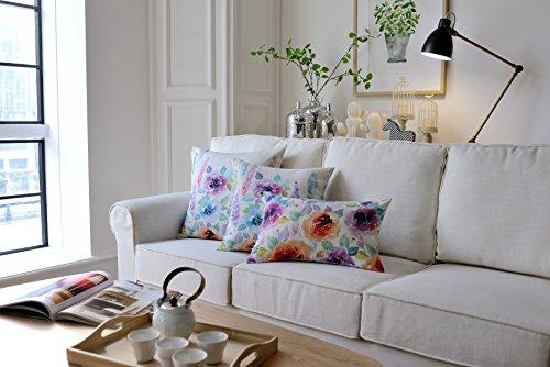 Mysky Home Set Of 3 Floral Design Print Cushion Cover Sofa C