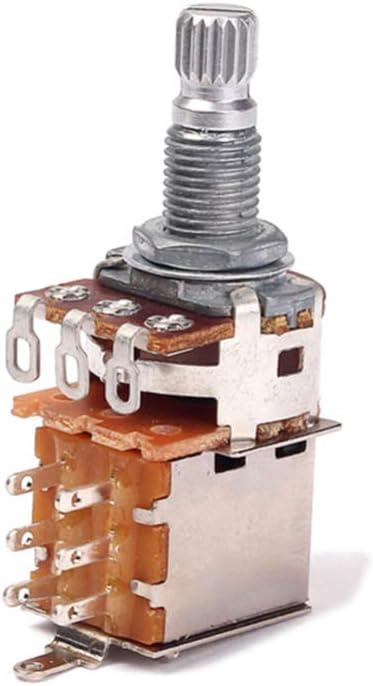 Exceart Potenciómetros de Guitarra A250k Potenciómetro de Empuje Y ...