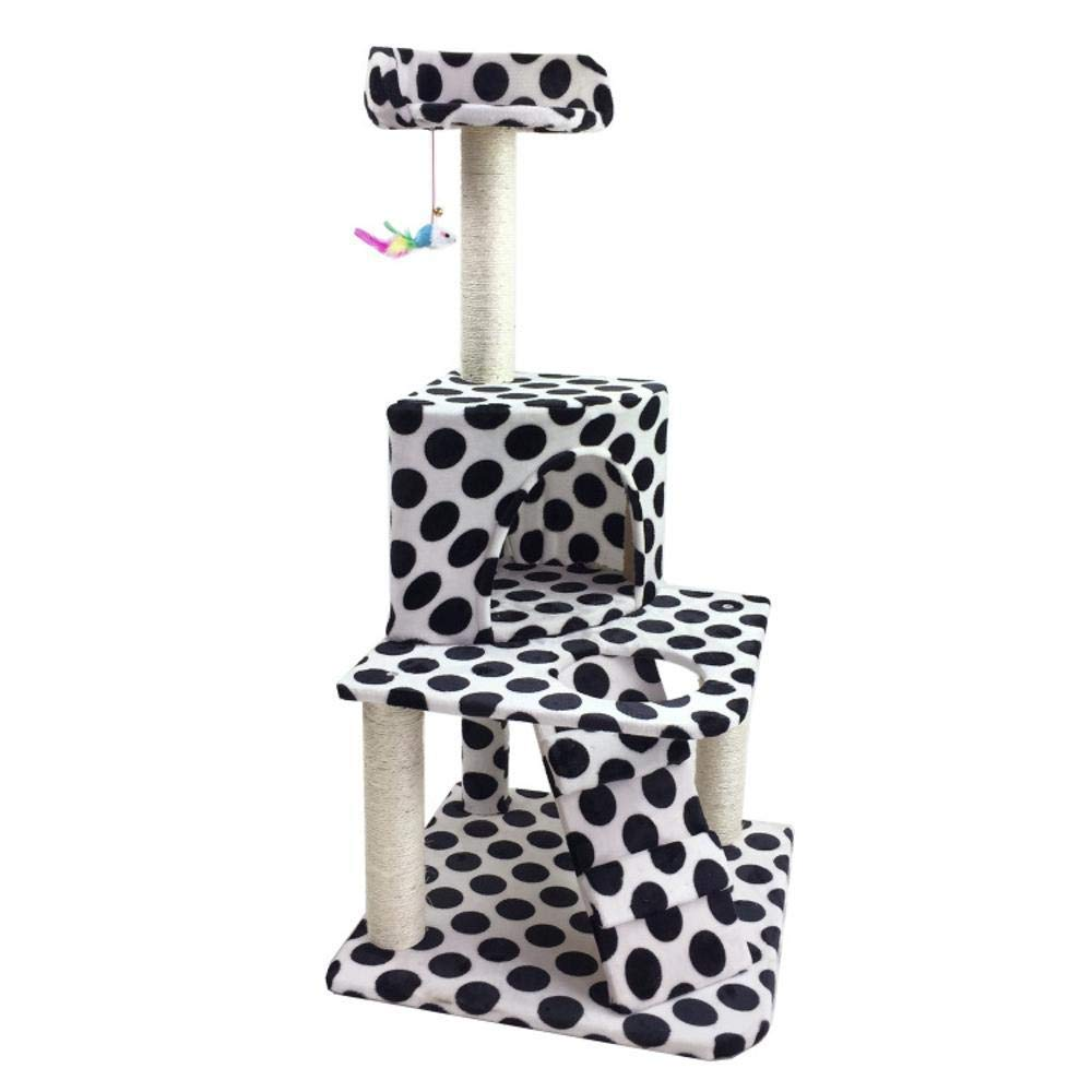B Deluxe Multi Cat Tower cat Trees Towers Pet cat Toy Furniture Grab Board Villa cat Nest Bed House Ladder 50  50  112cm Plate Hemp Rope Flannel (color   B)
