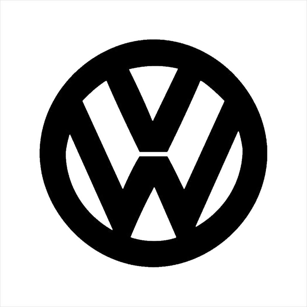 Volkswagen Classic Black VW Logo Mens T-Shirt