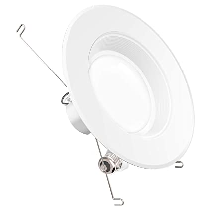 sunco lighting 1 pack 5 6 inch baffle recessed retrofit kit dimmable