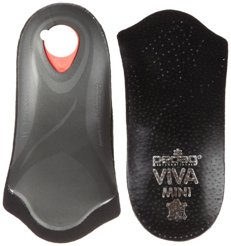 Pedag Viva Mini Orthotic with Semi-Rigid Arch Support, Metatarsal & Heel Pad, Leather, Black, US W11/M8/EU41