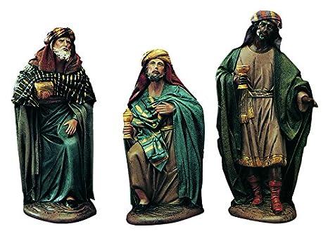 6ee23548322 Belenes Puig Juego de 3 Piezas Reyes adorando Barro lienzado