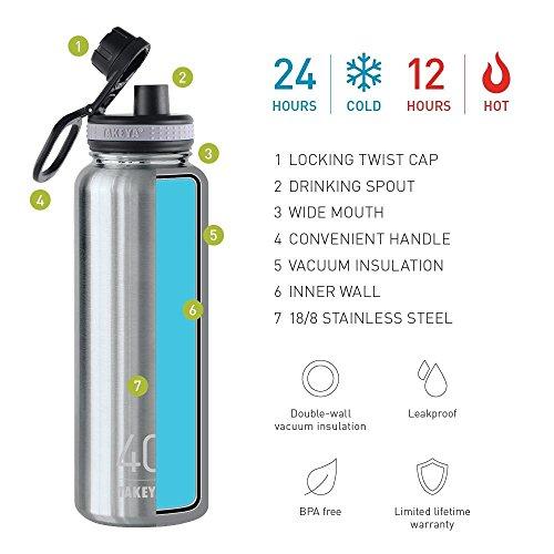 Takeya Originals Vacuum Insulated Stainless Steel Water
