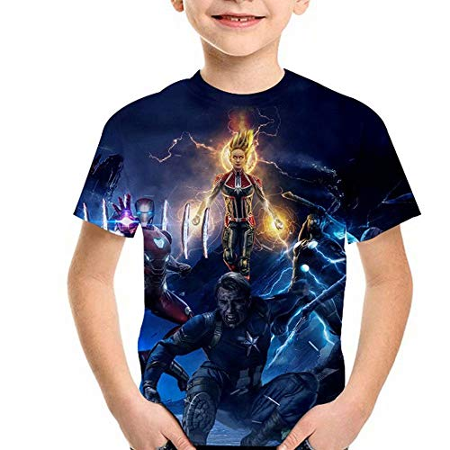 Tsyllyp New Captain Fans Boys Girls T-Shirt 3D Print Tee Shirts Tops ()