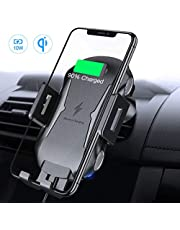 FLOVEME Handyhalter Fürs Auto Mit Ladestation Lüftung, Induktiv Qi Wireless Charger KFZ Handyhalterung Für iPhone XS/XS Max/XR/X/8/8P, Galaxy Note 9/S9/S9+/Note 8/S8/S8+/S7 usw.