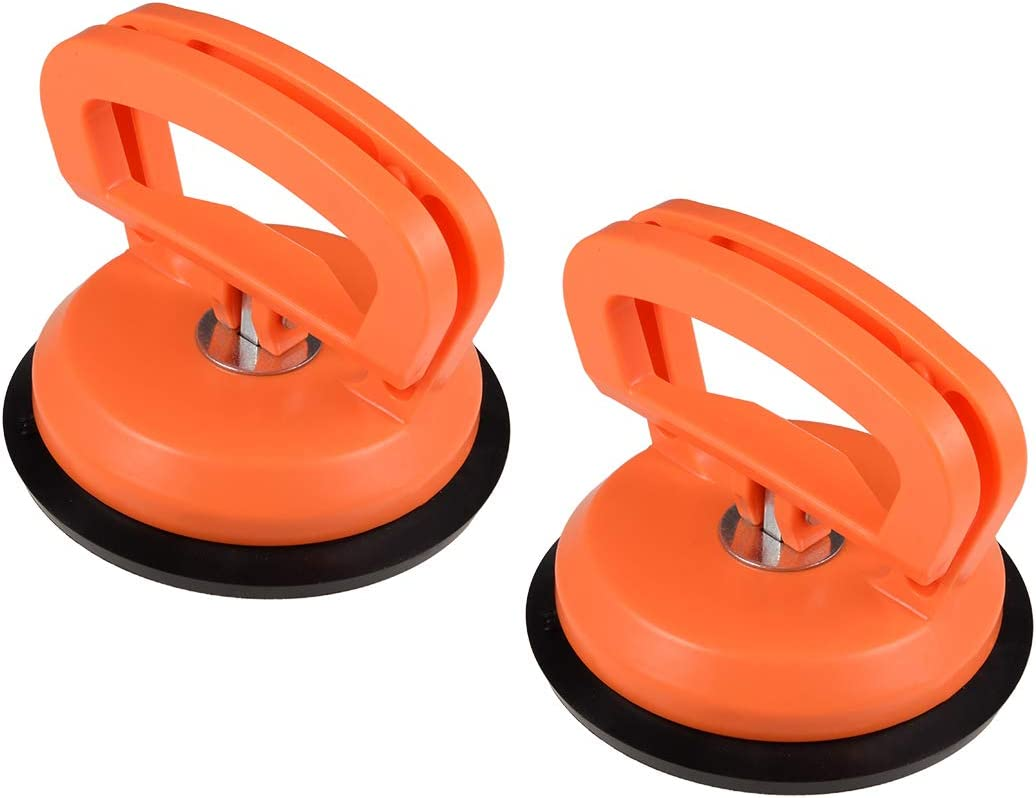 uxcell Vacuum Suction Cup Glass Lifter for Glass/Tiles/Mirror/Granite Lifting Dent Remover Gripper ABS Sucker Plate Double Handle Locking 2Pcs