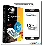 Annant Entp Premium Full Screen Edge To Edge Coverage 2.5D Curved HD+ Tempered Glass Screen Guard Protector For Samsung Galaxy C9 Pro - (Black Edition)