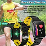 Fitness Tracker Watch with Heart Rate Blood Pressure/Oxygen Sleep Monitor IP68 Waterproof Smart Bracelet Music Control Weather Forecast Pedometer Activity Tracker Wristband for Man Women Kids