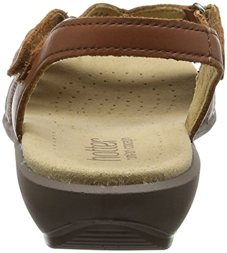 Hotter Women's Flare Open-Toe Sandals Brown (Tan Multi) UEZ1fgE