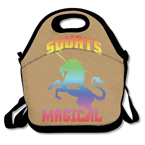 VHGJKGIN Unicorn Squats Are Magical Child And Adult Lunch Bags, Lunch Lunch Bags -