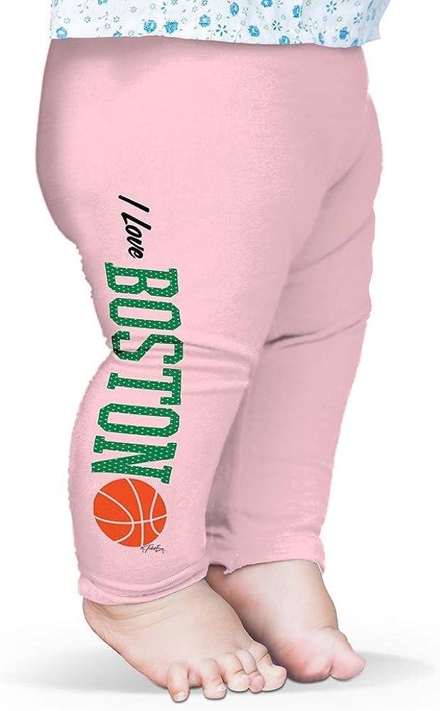 Twisted Envy Baby Leggings I Love Boston Basketball Baby and Toddler Girls Leggings