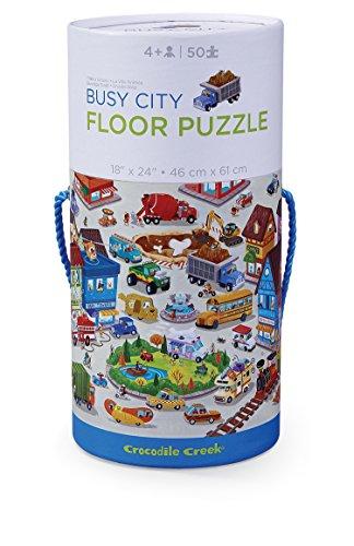 Crocodile Creek Busy City Vehicle Jigsaw Floor Puzzle Floor Jigsaw Puzzle