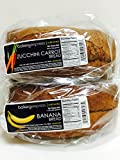 Bakery Express All Natural Banana Bread (1.5 lbs) and Zucchini Bread (20 oz)
