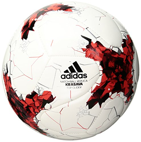 adidas Performance Confederations Cup Top Replique Soccer Ball, White/Red/Power Red/Clear Grey, Size (Confederations Cup)