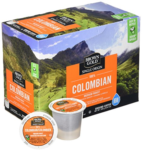 Brown Gold, 100% Columbian Coffee, 24 Single Serve RealCups