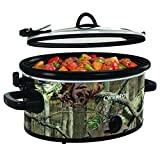 Crock-Pot 5-Quart Cook & Carry Oval Manual Portable Slow Cooker, Mossy Oak