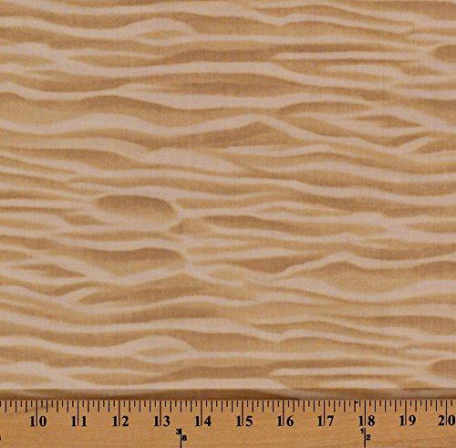 Cotton Sand Ripples Tan Beaches Sea Shore Seashore Sandy Desert Cotton Fabric Print by the Yard GM-C2184 ()