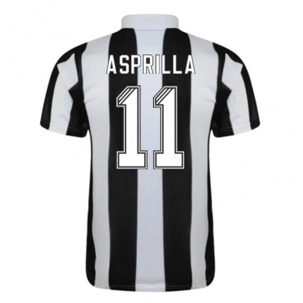 1996-97 Newcastle Home Football Soccer T-Shirt Trikot (Faustino Asprilla 11)