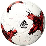 adidas Performance Confederations Cup Top Replique Soccer Ball, White/Red/Power Red/Clear Grey, Size 5