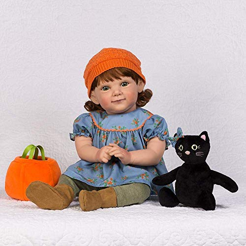 Paradise Galleries Reborn Toddler Doll in Fall-Themed/Halloween Outfit, 19 inch Pumpkin Spice, 8-Piece Set ()