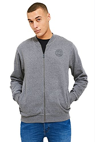 Grey Uomo Felpa Baseball Threadbare Cardigan qISO8XwSx