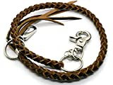 BrownBeans, Biker Style Mens Teens Braided Leather Lanyard Wallet Chain Fob Key Holder Wallet Strap (BBKC7003) (B02)