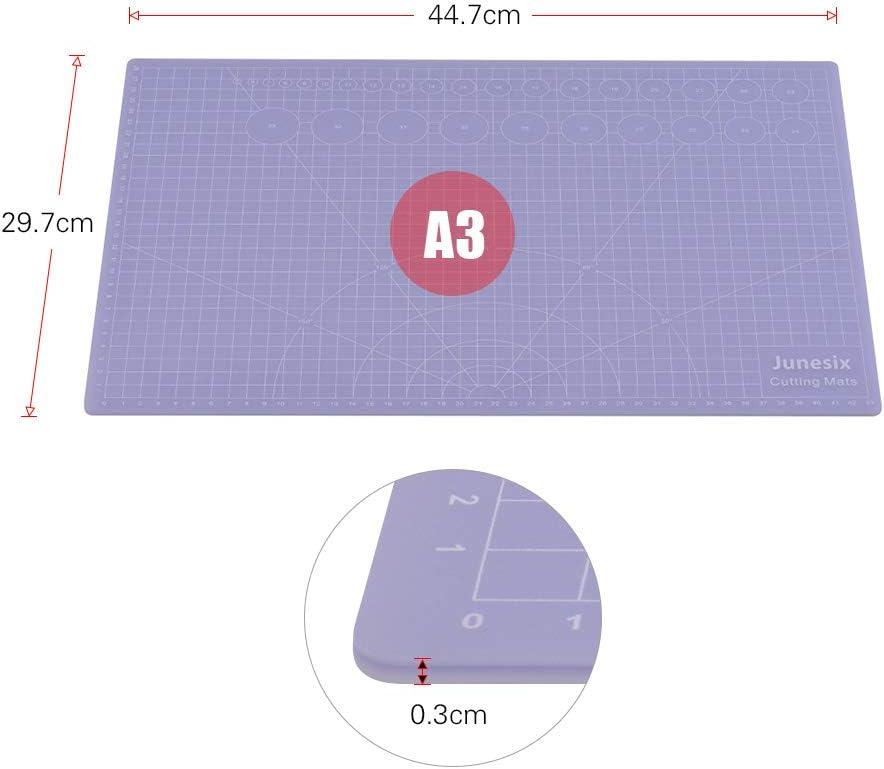 lichtdurchl/ässige selbstheilende Schneidematte rutschfestes PVC-Schneidebrett f/ür Kunsthandwerk Mini-haltbares 10 * 10 cm Schneidunterlage 3 mm Dicke