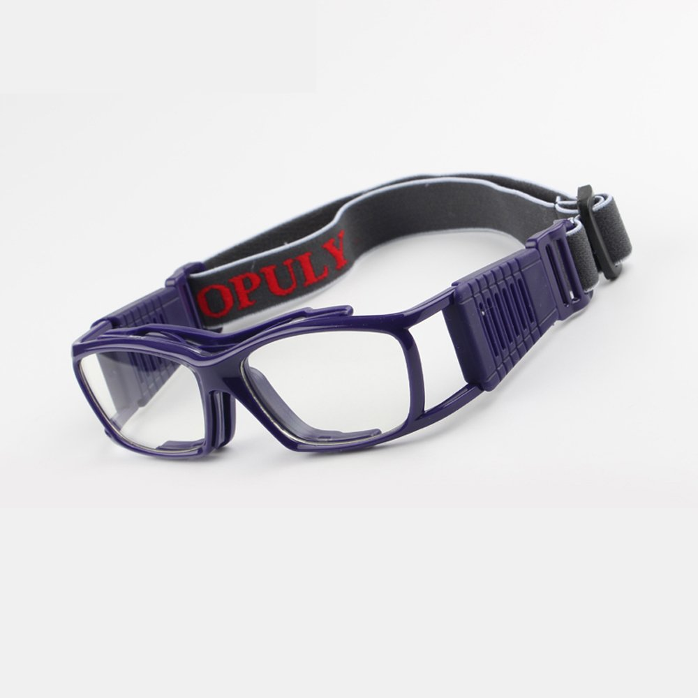 Occhiali da pallacanestro Vintage Slimfit Occhiali sportivi protettivi di protezione (grigio) EnzoDate OP060-3