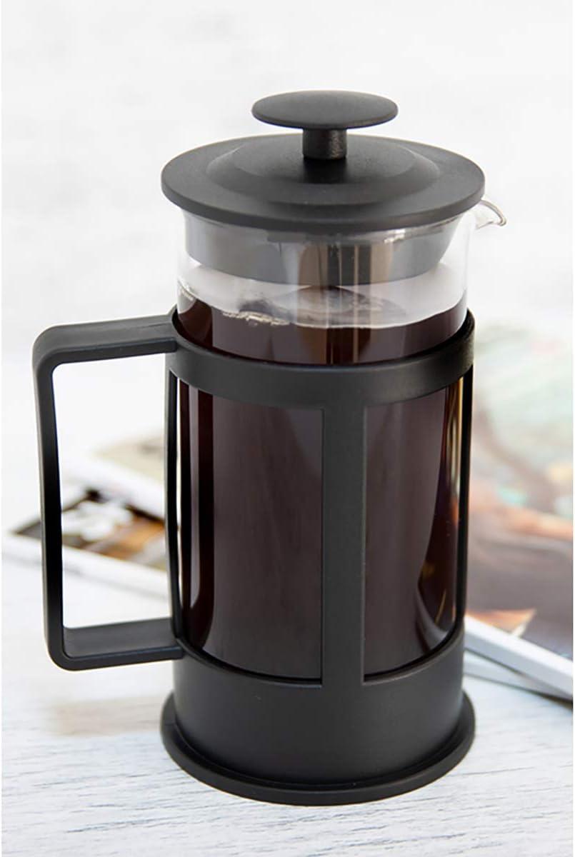 BiggCoffee French Press Fresh Coffee Maker Stainless Steel Borosilicate Glass