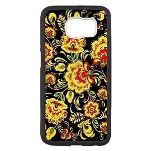 Samsung Galaxy S6 funda Negro [PC dura de la funda + HD Pattern] Daisy Serie Flower® [Numeración: FHJSFOHSK4290]