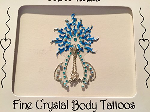 THE BEST SELLING CELEBRITY VAJAZZLE CROTCH TATTOO, JENNIFER DID IT NOW YOU TOO CAN, DEFINITIONS WEARABLE ART SINCE 1995 (turquoise)