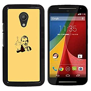 FU-Orionis Colorful Printed Hard Protective Back Case Cover Shell Skin for Motorola G 2ND GEN II - Abstract Gentleman