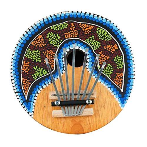 Yofafada Kalimba Thumb Piano 7 Cl/és accordable Noix de Coco Peinte Instrument de Musique