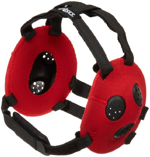 ASICS Unisex Gel Wrestling Ear Guard, Red, One (Asics Wrestling Ear Guard)