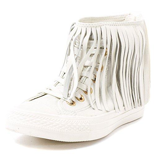 Converse All Ladies Stelle Frangia Scarpe Da Ginnastica Bianche Bianco