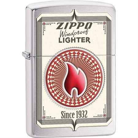 Zippo Trading Card Pocket Lighter, Brushed Chrome (Design Chrome Brushed)