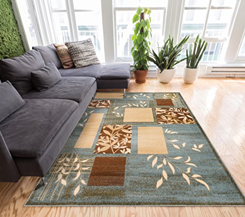 Nature Modern Formal Area Rug 5x7 53 X 73 Easy To Clean Stain Fade Resistant Shed Free Traditional Transitional Soft Living Dining Room