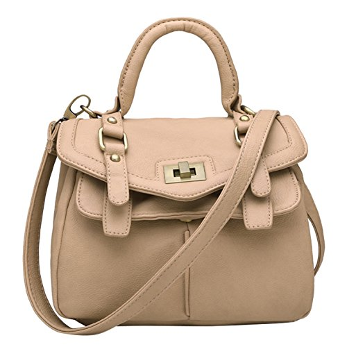 Leather Bag Tote handle Top Women's Yiji Vintage Shoulder Camel BxFEWO