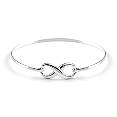 everlasting jewelry bangle bracelet silver symbol and bangles sterling infinity engraved dp amazon com