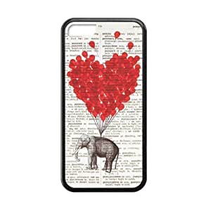 SUUER Rubber Silicone Elephant And Love On Dictionary Custom Rubber Tpu Case for iPhone 5 5s Durable Case Cover by lolosakes