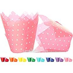 Tulip Cupcake Liners (Polka Light Pink) | 100 count