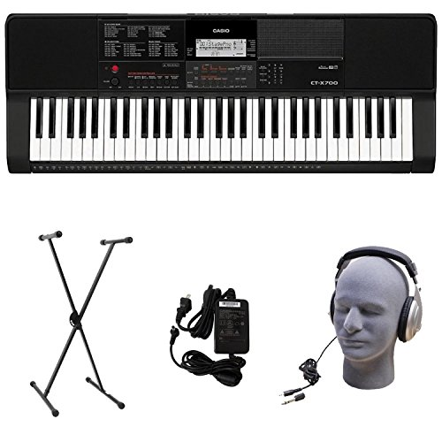 Casio CT-X700 PPK Premium Keyboard Pack with Power Supply, Stand, and Headphones ()