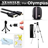 Starter Accessories Kit For The Olympus Tough TG-860, TG-870 Digital Camera Includes Deluxe Carrying Case + 50 Tripod With Case + Micro HDMI Cable + Screen Protectors + Mini TableTop Tripod ++
