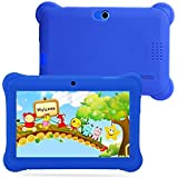 7 inch Quad Core Tablet Kids, 1.3 Ghz Quad Core Google Android 4.4 Tablet PC,512MB+8G,Dual Camera,WiFi,Blue-Tooth,Mini USB,G-Sensor,Support SD/MMC/TF Silicone Case