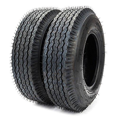8 Pr Summer Tires - Roadstar 8 Inch Trailer Tires 4/4.80-8 4 PR Bias Tires for Boat Lawn Garden Pack of 2