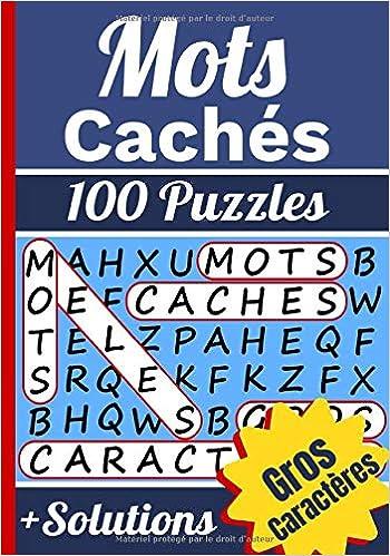 Mots Caches Mots Meles Adultes Avec Solutions 100 Puzzles