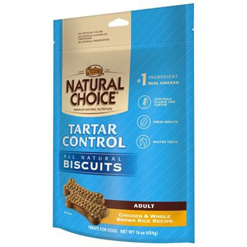 NATURAL CHOICE Tartar Control Adult Biscuits Chicken and Whole Brown Rice Recipe - 16 oz. (454 g) (Control Tartar)
